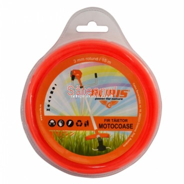 Fir trimmer 3 mm, rotund, 15 m | sateanul.ro