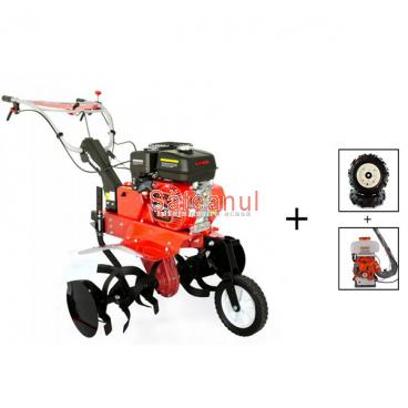 Motocultor Prorun PT-9000A, cu diferential & roti + atomizor Kasei 3WF-14B | Săteanul.ro