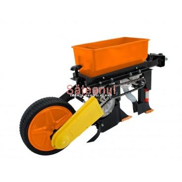Semanatoare cu fertilizator, pentru motocultor, 1 rand