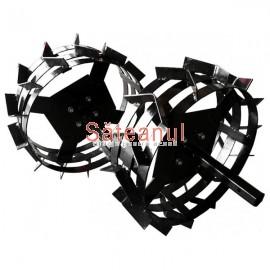 set roti metalice 50 cm motocultor, Rotakt