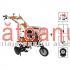 Motocultor O-Mac New 1000-S, 8 CP + roți cauciuc, plug, rarita, prasitoare
