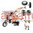 Motocultor O-Mac New 750-S, 7 CP, cu roti c. + plug + rarita + prasitoare + roti m. | sateanul.ro
