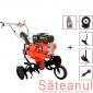 Motocultor Prorun PT-900A, 7 CP, cu diferential + roti c. + rarita + plug + suport